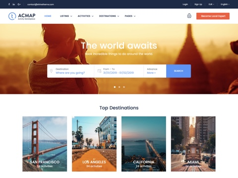 Traveler - Powerful Travel Booking Listings Theme