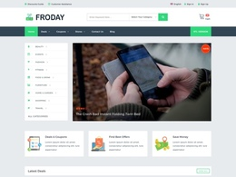 Froday - Flat Coupons, Discounts and Deals Theme