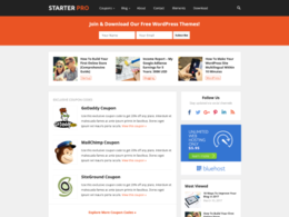 StarterPro - WPBeginner-like Simple Blog & Coupon Theme